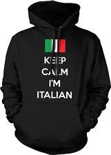 Keep Calm Im Italian Flag Italy Italia Pride Italianos Hoodie Pullover