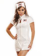 Honour Women's Nurse Dress in PVC White
