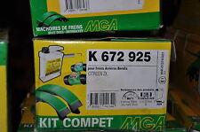 kit frein arrière mga, k672925,citroen zx ; 180x32