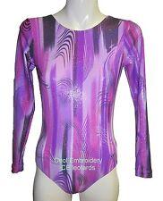 Basic long sleeve CE gymnastics dance leotard CHOICE