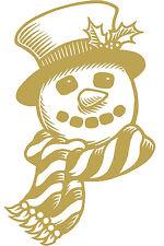 (wd0804 Oro) Aplicación Etiqueta Engomada De Decoración Muñeco De Nieve versch.
