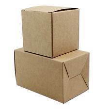 Brown Folded Kraft Paper Box For Wedding Gift Sugar Chocolate Storage Cardboard