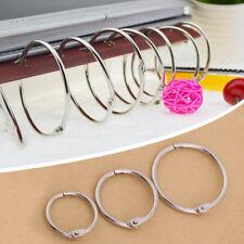 20PC Binder Rings Metal Hinged Book Craft Photo Album Split Keyring Scrapbook SG
