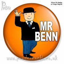 MR BENN ~ Pin Badge or Fridge Magnet [45mm] Retro TV