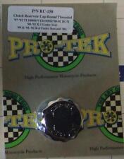Pro Tek Clutch Rear Brake Reservoir Cap CHROME Yamaha R1 R6 GSXR 600 750 1000
