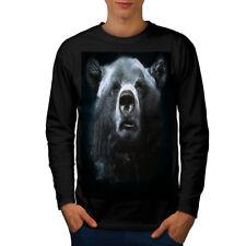 Wild Animal Oso Bestia Hombre Manga Larga T-shirt new | wellcoda