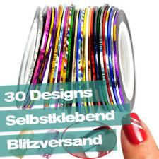 Nail Art Pin Stripes Tape Zierstreifen Nagel Design Tattoo Set Mix 10 / 20 / 30