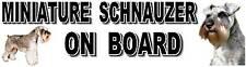 MINIATURE SCHNAUZER ON BOARD Car Sticker By Starprint