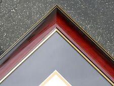 Diploma Glossy dark red luxry Cherry Frame Mat college custom C45