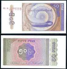 BURMA 50 PYAS MYANMAR 1994 P 68 UNC