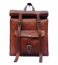 Neu Echt Leder Rucksack umhängetasche Jahrgang Backpack leather tasche beutel