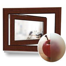 Kellerfenster Kunststoff Garagenfenster Holzoptik Mahagoni Braun 2 Fach 60 mm