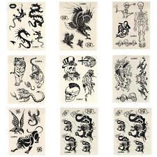 10/20/30/50/100 Temporay Körper Tattoo Tatoo Bodyart Tiger Skorpion Totenkopf