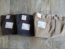 Croft /& Barrow Mens Corduroy Pants Flat Front Comfort Waist 38W 36L NEW $60