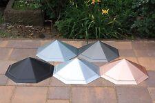 """Dachspitze """"Iris"""", achteckig, Zink - blank, farbig, Kupfer, funktionell, günstig"""