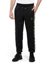 PUMA Men's Athletic Jogger Sweat Pants S M L XL XXL Black Sweatpants Clyde New