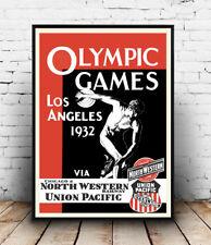 Jeux Olympiques Poster 1932, poster reproduction publicité vintage, art de mur.