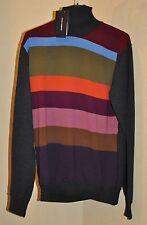 Authentic New Men's DOLCE & GABBANA Multicolor Virgin Wool Sweater