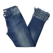 Mavi Womens Kerry Distressed Vintage Straight Leg Ankle Jeans BHFO 5242