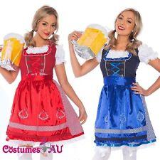 Deluxe Ladies Beer Maid Wench Costume Oktoberfest Gretchen German Fancy Dress