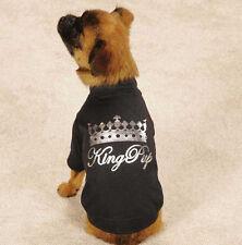 Zack & Zoey King Pup Dog T-Shirt Tee Black Pet Top Crown
