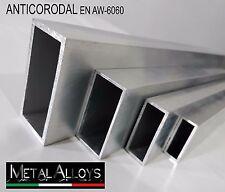 Tubo Rettangolare Alluminio da 60 70 80 mm IN DIVERSE LUNGHEZZE E SP ANTICORODAL