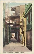 Vintage POSTCARD c1930-40s Petite Rue Sous-le-Cap QUEBEC, CANADA Unused