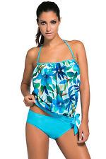 Woman's New 2pcs Bandeau Tankini Swimsuit