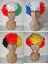 NATALE COUNTRY CALCIO TIFOSO Parrucca Afro Costume