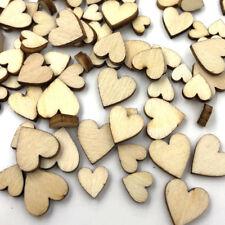 10/50/100pcs Mini Heart Wood Buttons Sewing Craft Mix Lots Wholesales WB490