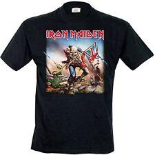 Iron Maiden Trooper Mens Black T Shirt Eddie Official Classic Rock Music
