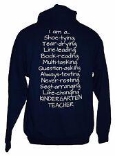I Love Kindergarten School Teacher Hooded Sweatshirt Hoodie with Zipper