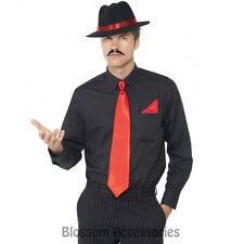 CL184 Gangster Instant Kit Red 1920's Mens Costume Hat Tie Handkerchief