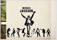 Wandtattoo wandaufkleber wandsticker photo tanzen Porträt michael jackson wph40