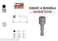 INSERTI ESAGONALE LTI CHIAVI A BUSSOLA MAGNETICHE 8 10 13 mm TRAPANO AVVITATORE