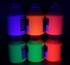 500ml NEON Acrylfarbe Schwarzlichtfarbe fluoreszierend UV Farbe (1L=19,98€) NEU