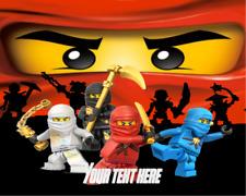 Lego Ninjago Edible Icing Edible Paper Birthday Cake Toppers Pre Cut!!