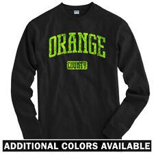 Orange County California Long Sleeve T-shirt LS - Santa Ana SNA CA - Men / Youth
