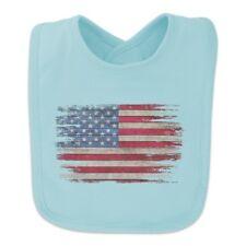 Rustic American Flag Wood Grain Design Baby Bib