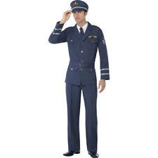 Herren Pilotenkostüm blau Flieger Kostüm Pilot Piloten Outfit Fliegerkostüm