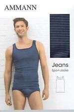 AMMANN ISCO Jeans Sportjacke Unterhemd Gr. 5 - 12 versch. Farben wählbar