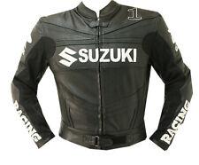 GSXR SUZUKI Giacca in Pelle da Motociclista Uomo Motocicletta Pelle Giacca EU-56