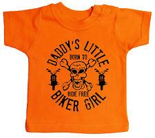 """Baby MOTOCICLISTI T-SHIRT """" Daddy's PICCOLO Biker RAGAZZA """" MOTO FIGLI ANARCHIA"""
