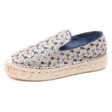 B3822 espadrillas donna ASH XEM scarpa oro/blu shoe woman