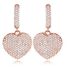 Diamantohrringe Herzen mit 1.95 Karat Diamanten (SI/H) in 585er Rosegold