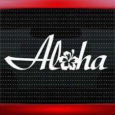 Aloha #1 Hibiscus Hawaiian Flower Cute Car Decal Window Sticker (20 COLORS!)