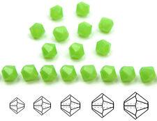 Czech MC Glass Bicone Beads (Rondell/Diamond) Green Opal