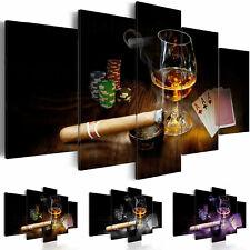 Leinwand Bilder xxl Poker Zigarre Wandbilder Bar Club Wohnzimmer i-A-0101-b-n