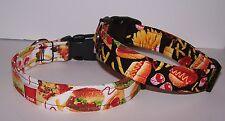 Wet Nose Designs Junk Food Lovers Dog Collar Burgers Fries Pizza Hotdogs