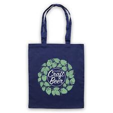 Me encanta Craft CERVEZA Eslogan Retro Hipster de HOMBRO acarreo Bolso Tienda de bebida fría